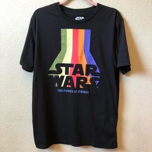 Star Wars Men's Graphic T-Shirt Black Size Large
